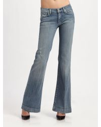 7 For All Mankind Dojo Distressed Bootcut Jeans - Lyst