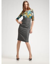 D&G Floral Tweed Dress - Lyst