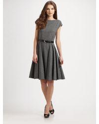 Dior Stretch Tweed Dress - Lyst