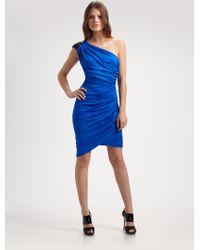 Laila Azhar - Ruched Silk Dress - Lyst