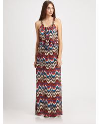 Parker Silk Zigzag Dress - Lyst