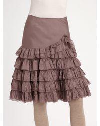Ralph Lauren Blue Label - Tiered Ruffle Skirt - Lyst