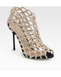 Sergio Rossi Mermaid Swarovski Crystal Booties - Lyst