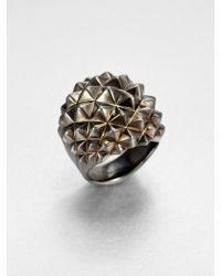 Stephen Webster Sterling Silver Studded Dome Ring - Lyst