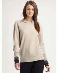 3.1 Phillip Lim Embellished Wool Pullover Sweater - Lyst