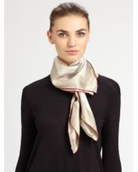 Burberry Silk Square Check Scarf - Lyst
