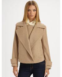 By Malene Birger Fiedlina Draped Flannel Coat - Lyst