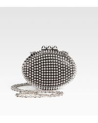 Christian Louboutin Mina Spiked Clutch - Lyst