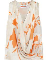 Diane von Furstenberg Rina Printed Silk Chiffon Top - Lyst