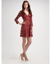 Diane von Furstenberg Julian Mini Silk Wrap Dress - Lyst