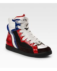 DSquared² Leather Hightop Sneakers - Lyst