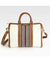 Gucci Vintage Web Boston Bag - Lyst
