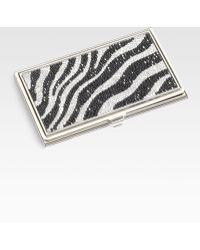 Judith Leiber - Zebra Business Card Holder - Lyst