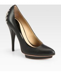 McQ by Alexander McQueen Studded Leather Platform Pumps - Lyst