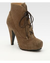 Proenza Schouler Suede Snubnose Ankle Boots - Lyst