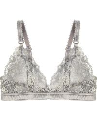 Stella McCartney Bonnie Sizzling Lace and Satin Softcup Bra - Lyst