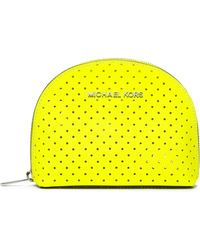Michael by Michael Kors Large Jet Set Perforated Cosmetic Case - Lyst