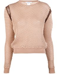 Carven Bicolor Knit Sweater - Lyst