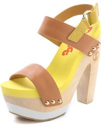 Flogg - Rexfort Two Band Platform Clog Sandals - Lyst