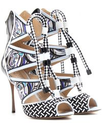 Peter Pilotto Print Patent Leather Stilettos - Lyst