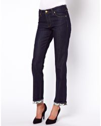 Vivienne Westwood Anglomania For Lee Skinny Jeans with Contrast Turn Ups - Lyst