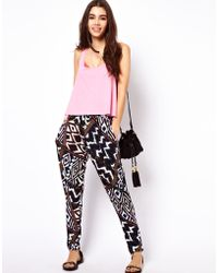 ASOS Collection  Peg Trouser in Aztec Print - Lyst