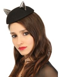 Maison Michel Bibi Fur Felt Cat Ear Hat - Lyst