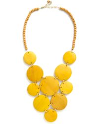 ModCloth Strewn with Sunlight Necklace yellow - Lyst