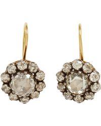 Olivia Collings - Diamond Cluster Earrings - Lyst