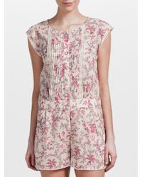 Somerset by Alice Temperley - Floral Playsuit - Lyst