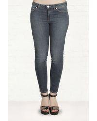Acne Studios Skin 5 Used Blue Skinny Jeans - Lyst