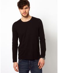 Asos Long Sleeve T-Shirt With Crew Neck - Lyst