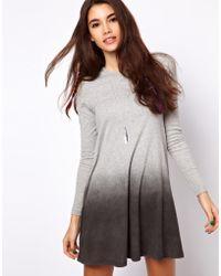ASOS Collection | Swing Dress with Dip Dye Hem | Lyst