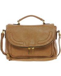 ASOS - Satchel Bag with Zip Flap - Lyst