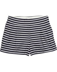 J.Crew Striped Linen and Cottonblend Shorts - Lyst