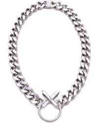 Luv Aj Crystal Cross Necklace - Lyst