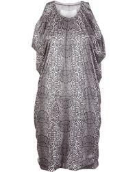 Yigal Azrouël Foiled Cobra Knit Dress - Lyst