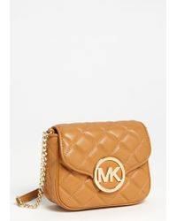 MICHAEL Michael Kors Fulton Small Quilted Leather Crossbody Bag - Lyst