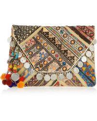 Antik Batik Banjo Embellished Clutch multicolor - Lyst