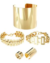 ASOS Collection Asos Chunky Bracelets Rings Multipack - Lyst