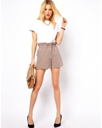 ASOS Collection Asos Shorts with Ruched Waistband - Lyst