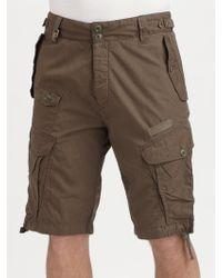Diesel Poplin Twill Shorts - Lyst