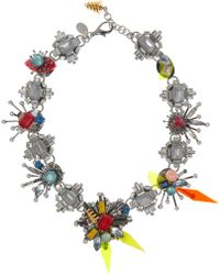 Erickson Beamon Nexus Swarovski Crystal Necklace - Lyst