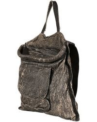 Giorgio Brato - Scratched Washed Leather Shoulder Bag - Lyst