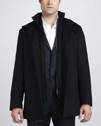 Hugo Boss Short Coat - Lyst
