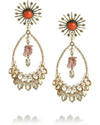 Isabel Marant Swarovski Crystal Earrings - Lyst