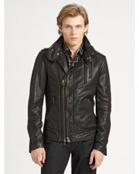 Mackage Leather Motorcycle Jacket - Lyst
