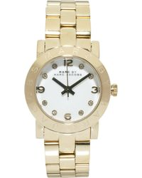 Marc By Marc Jacobs Mini Amy Gold Watch - Lyst