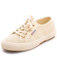 Superga Tweed Cotu Sneakers beige - Lyst