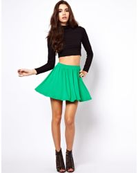 ASOS Collection Asos Skirt in Skater Style green - Lyst
